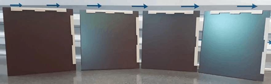 panneau aluminium changeant de couleur