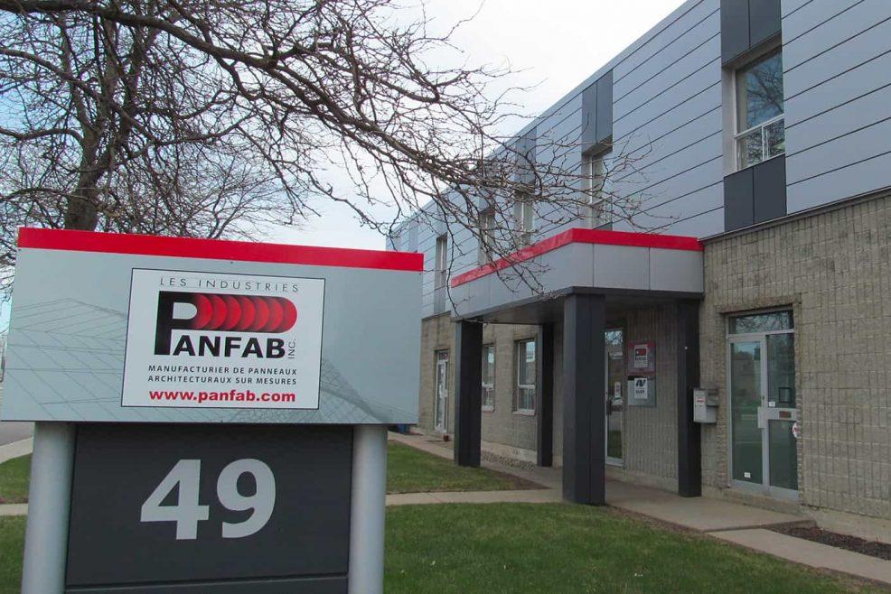 affiche extérieure Panfab